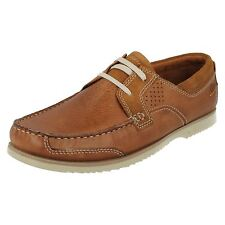 SALE Clarks 'Kendrick Sail' Mens Tan Leather Nubuck Textile/Synthetic Boat Shoes
