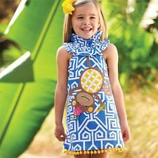 NEW MUD PIE Baby Toddler Safari Monkey Dress 2T 3T