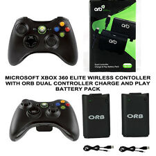 Microsoft Xbox 360 Wireless Controller with ORB Dual Rechargeable Battery Pack