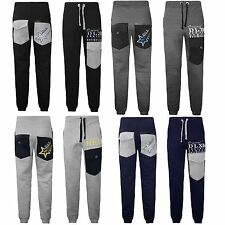 New Mens Jogging Sports Training Sweat Bottoms Jogger Fleece Trouser Pant