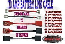 HEAVY DUTY POSITIVE NEGATIVE BATTERY TERMINAL LEAD LINK CABLE 170 AMP CAR