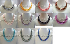 genuine natural freshwater pearl necklace variations color 2 strands baroque