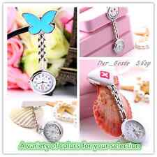 New Cute Pendant Butterfly Nurse Clip-on Brooch Quartz Hanging Pocket Watch DD