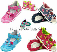Toddler Girls Summer Sandals Beach Shoes Leather Insole Size UK 4 - 8.5