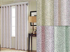 "Empire Heavy Jacquard Grained Window Curtain Grommet Panel 54"" X 84"" 4 colors"