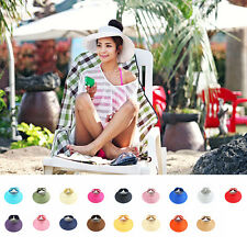 Women Hot Summer Sun Beach Hats Foldable Roll Up Wide Brim Straw Lady Hat Cap