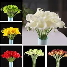10PCS Real Latex Touch Calla Lily Flower Bouquets Bridal Wedding DIY Bouquet New