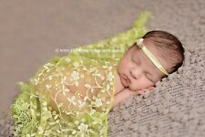 Newborn Baby Boy Girl Lace Fringe Triangle Wrap Cover Layer Blanket Photo Prop