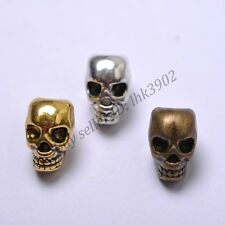 Tibetan Silver Skull Head Loose Spacer Beads Jewelry DIY Findings Z810
