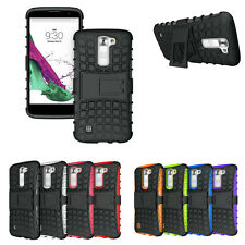 Rugged Hybrid Heavy Duty Protective Hard Case Stand Cover For LG K7 Tribute 5