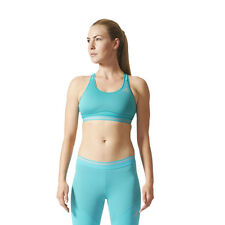 Adidas Techfit Chill Womens Blue Fitness Running Gym Sports Bra Support Top