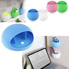 Home Bathroom Toothbrush Holder Wall Mount Suction Cup Toothpaste Storage