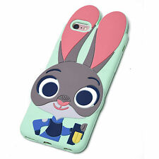 Zootopia Rabbit Judy Bunny Soft Silicone Case for iPhone Green Ver. with chain