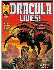 Dracula Lives # 13 (1975) G+ Curtis Magazine Marvel Final Issue