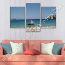POSTER Split 3 panels Boat on the Beach prints decor fine art gallery poster