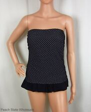 NWT Hula Honey Polka Dot Swimdress Strapless Ruffle One-Piece Swimsuit Size XS M