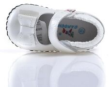 """Caroch """"Shimmer"""" Pearl Girls Leather Soft Sole Shoes 6 to 24 Months Baby Toddler"""