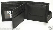 RFID Security Lined Leather Wallet Quality Full Grain Cow Hide Leather. 11021