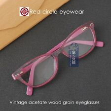 Retro glass women acetate wood grain eyeglasses frames mens optical eyewear 3123