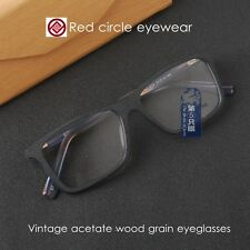 Vintage glass acetate wood grain eyeglasses frames mens retro optical eyewear