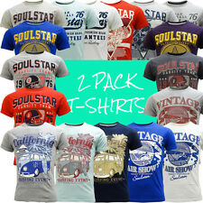 Soul Star T-Shirts - Mens 2 Pack T Shirt
