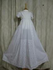 Beautiful Antique Victorian Christening Gown- Pintucks & Whitework Embroidery