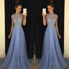 Evening Chiffon Prom Dresses Long Wedding Party Bridesmaid Appliques Party Gowns