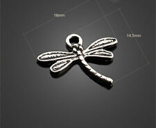 Retro 20/30/40pcs ancient silver Alloy dragonfly Charms Pendant 18x14.5mm
