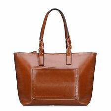 Stylish Leather Weekend Tote Handbags Women Large Outdoor Travel Shoulder Bags