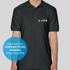 Impractical Jokers Faces Funny Embroidery Top Polo Shirt Mens Womens Unisex NEW