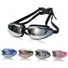 E Adult Pro Waterproof Anti-Fog Anti-UV Swim Glasses Swimming Goggles Adjustable