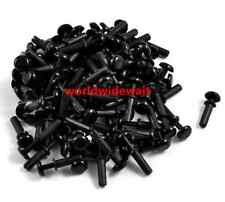 New Black Nylon 3.0mm Bottom Dia Push Clips Fasteners Rivets R3080