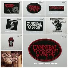 Cannibal Corpse Sew On Patch Iron Embroidered Rock Band Heavy Death Metal Music