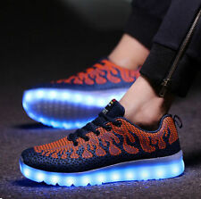 2016 summer Trainer Lace-up Shoes Men's USB Charger LED Night Light Shoes CF88
