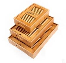 Chinese Classical Bamboo Gongfu Tea Table Serving Tray Storage water