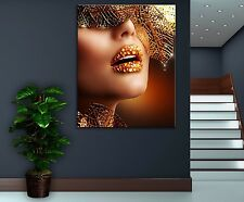Lips Face Modern Canvas Home Fine Wall Art Photo Prints Colorful Decor Poster