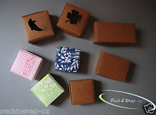 10x Cardboard Craft Boxes square rectangular cube party favour gift candles soap