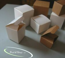 10 x Cardboard Boxes square cube white craft party favour gift cubic packaging