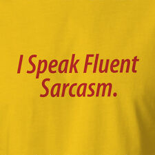New Sarcastic T-shirt I Speak Fluent Sarcasm All Sizes sheldon bang big theory