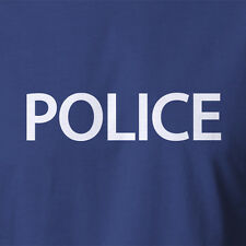 New 100% Cotton T-shirt. POLICE special police agent costume all sizes 8-5XL