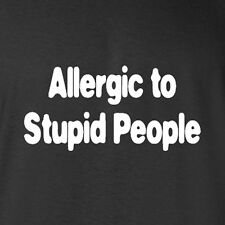 New Cotton T-shirts Allergic To Stupid People think smart geek costume books