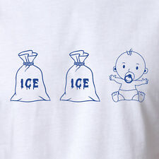 Funny ICE ICE BABY T-shirt Vanilla Ice Parody Rap Hip Hop RARE costume All Sizes
