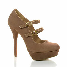 Stephy Mary Jane Dress Pump Close Toe Double Strap Women Office Shoes New