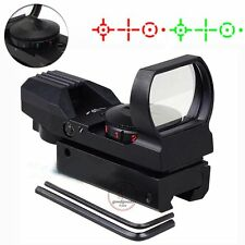 Red and Green Dot 4 Reticle Reflex Red Dot Scope Sight With Mount 11mm/21mm