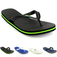 Mens Brazil Logo Beach Summer Brasil Vacation Sandals Shoes Flip Flops US 6-13
