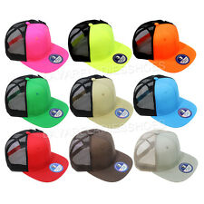 Mesh Baseball Cap Trucker Hat Plain Blank Flat Visor Meshback Adjustable Caps
