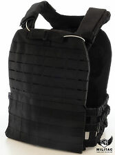 New Laser Cut Molle Black Tactical Vest / Black Plate carrier / Army chest rig