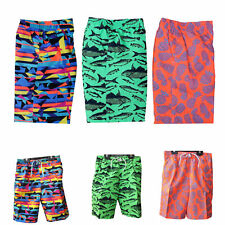 BOYS SWIMMING SHORTS AGE 6-7 YEARS ASSORTED DESIGNS MESH TRUNK LINING