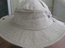 NWT DORFMAN PACIFIC/SCALA BOONIE HAT WITH SNAPS & STRAP  SFP 50/WITH COOLMAX
