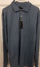 Mens Big & Tall VanHeusen Blue Bahama Long Sleeve Polo Shirt NEW MSRP $60
